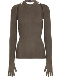 Peter Do Convertible Cashmere And Silk Jumper - Grey