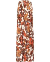 Dodo Bar Or Floral-print Maxi Dress - Orange