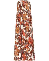 Dodo Bar Or Vestido largo con motivo floral - Naranja