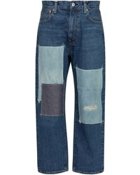 Junya Watanabe High-Rise Straight Jeans - Blau
