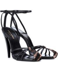 Saint Laurent - Era 110 Leather Sandals - Lyst
