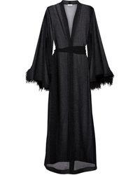 Oséree Lumière Plumage Dress - Black