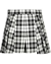 RED Valentino Checked Wool Shorts - Multicolour