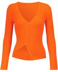 Jacquemus Exclusive To Mytheresa – Le Cardigan Tordu Cardigan - Orange