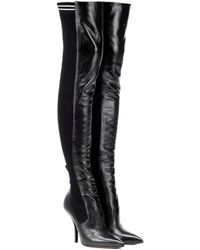Fendi Overknee-Stiefel Rockoko aus Leder - Schwarz