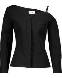 Coperni Heart Off-shoulder Cady Jacket - Black