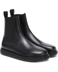 The Row Gaia Leather Gored Boots - Black