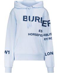 Burberry Hoodie Horseferry aus Baumwolle - Blau