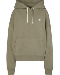 Tory Sport Oversized Cotton Jersey Hoodie - Multicolour
