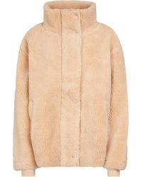 The Upside Faux Shearling Jacket - Natural