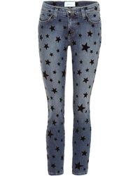 Current/Elliott - Bedruckte Cropped Jeans - Lyst