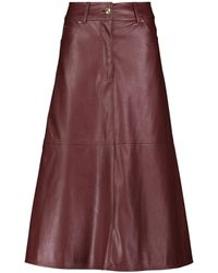 Stand Studio Riley Faux Leather Midi Skirt - Brown