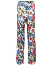 F.R.S For Restless Sleepers Carite Silk-blend Pajama Pants - Multicolor