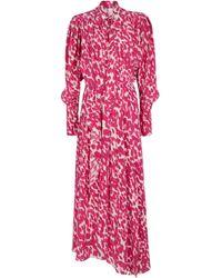 Isabel Marant Robe longue Bisma imprimée en soie mélangée - Rose