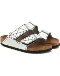Proenza Schouler X Birkenstock Arizona Leather Sandals - Metallic
