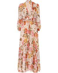 Zimmermann Vestido Bonita de lino floral - Multicolor