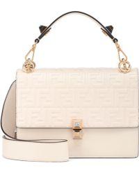Lyst - Fendi Kan I Mini Leather Shoulder Bag in Red 3c307b8c39b04