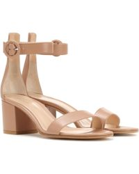 Gianvito Rossi - Exclusive To Mytheresa. Com – Versilia 60 Leather Sandals - Lyst