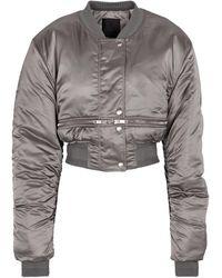 Givenchy Chaqueta bomber cropped de nylon - Gris