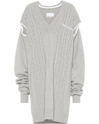 Maison Margiela Wool And Cotton Sweater - Gray