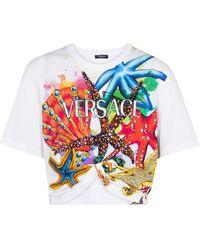 Versace - Trésor De La Mer Cotton T-shirt - Lyst