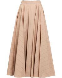 Alaïa Falda midi de popelín de algodón - Multicolor