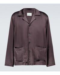 Nanushka Camisa lencera de satén - Marrón