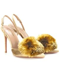 Aquazzura Exclusive To Mytheresa.com – Powder Puff 105 Velvet Court Shoes - Metallic