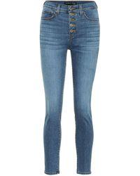 Veronica Beard High-Rise Skinny Jeans Debbie - Blau