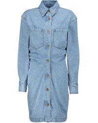 Nanushka Daisy Denim Midi Dress - Blue