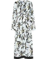 Dorothee Schumacher Tamed Florals Silk-blend Midi Dress - White