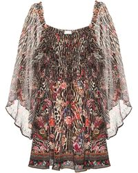 Camilla Embellished Silk Minidress - Multicolour