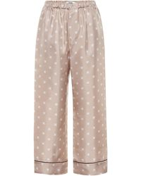 Fendi Printed Silk-twill Pyjama Trousers - Multicolour