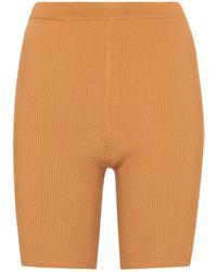 Sir. The Label Shorts ciclistas Jasper acanalados - Neutro