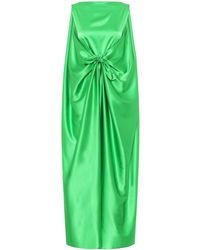 BERNADETTE Judy Silk-satin Gown - Green