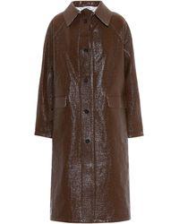Kassl Editions Vinyl-coated Linen-blend Coat - Brown