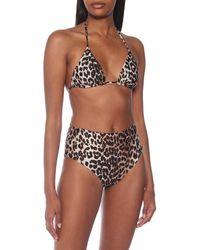 Ganni Braga de bikini estampada - Marrón