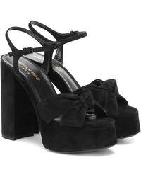Saint Laurent Bianca 85 Knotted Sandals - Black