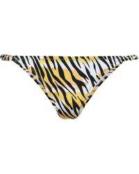 Reina Olga Love Tiger-print Bikini Top - Black