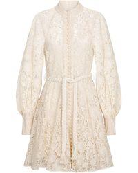 Zimmermann Vestido corto Cassia de encaje - Blanco