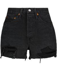 RE/DONE Shorts vaqueros 50s Cutoff - Negro