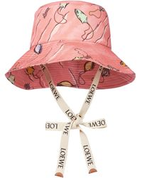 Loewe Paula's Ibiza sombrero de pescador - Rosa
