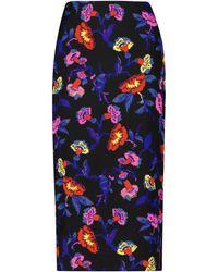 Diane von Furstenberg Falda tubo Kara de cady elástico floral - Azul