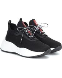 Prada Sneakers aus Neopren und Mesh - Schwarz