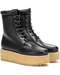 Gabriela Hearst David Leather Flatform Boots - Black