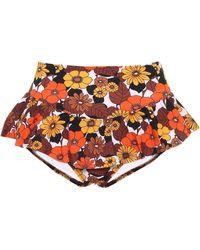 Dodo Bar Or Braga de bikini floral de tiro alto - Multicolor