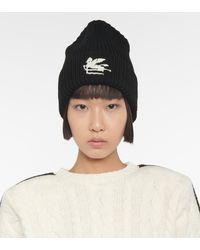 Etro Logo Wool Beanie - Black