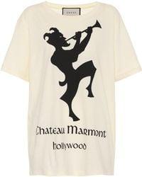 Gucci - Chateau Marmont Cotton T-shirt - Lyst