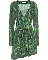 ROTATE BIRGER CHRISTENSEN Robe portefeuille Nancy imprimée - Vert
