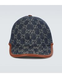Gucci Baseballcap GG aus Denim - Blau